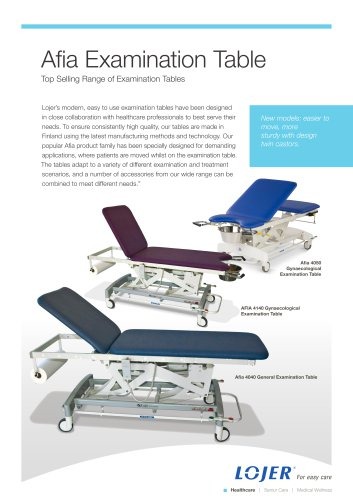 Afia 4040-4050-4140 Gynaecological Examination Table