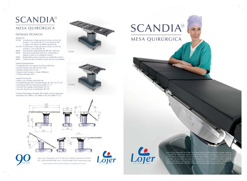 Scandia operating table