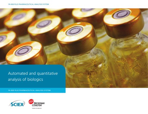 PA 800 plus Pharmaceutical Analysis System