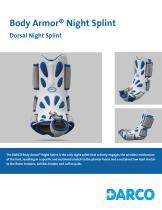 Body Armor® Night Splint