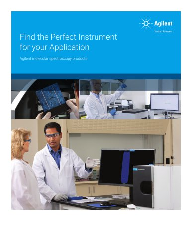 Find the Perfect Instrument for your Application Agilent molecular spectroscopy products