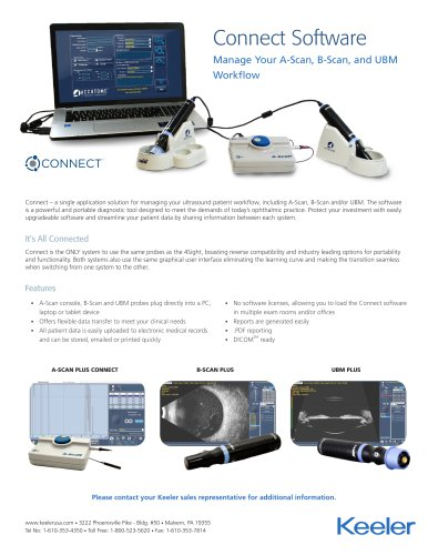 Connect Software (A-Scan, B-Scan, and UBM) Flyer