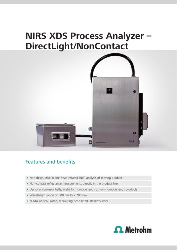 NIRS XDS Process Analyzer ? DirectLight/NonContact