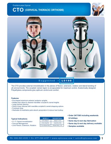 CTO (Cervical Thoracic Orthosis)