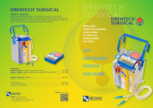 DRENTECH SURGICAL - post-operative drainage with blood recovery