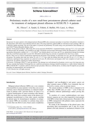 Percutaneous small-bore catheter