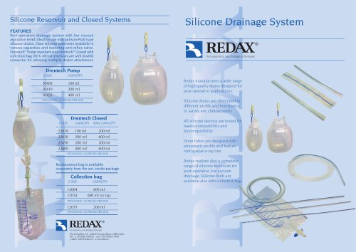 Silicone Drainage System