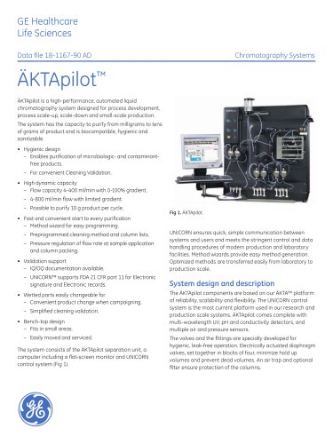 ÄKTApilot - The sanitary system for rapid process devolepment and small scale production