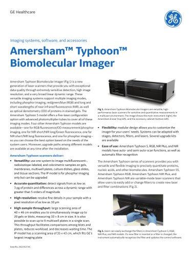 Amersham™ Typhoon™ Biomolecular Imager