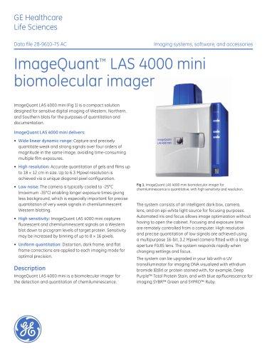 ImageQuant LAS 4000 mini biomolecular imager