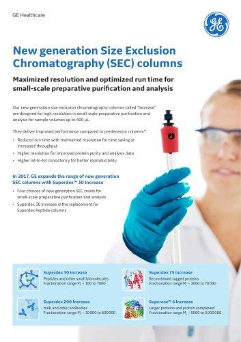 New generation Size Exclusion Chromatography (SEC) columns