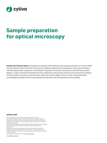 Sample preparation for optical microscopy