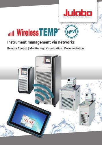 Wireless TEMP Instrument management via networks