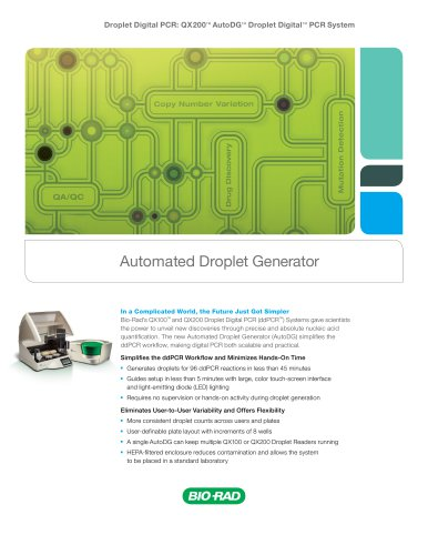 Automated Droplet Generator