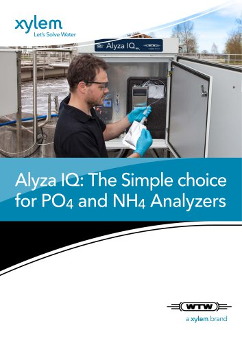 Alyza IQ: The Simple choice for PO4 and NH4 Analyzers