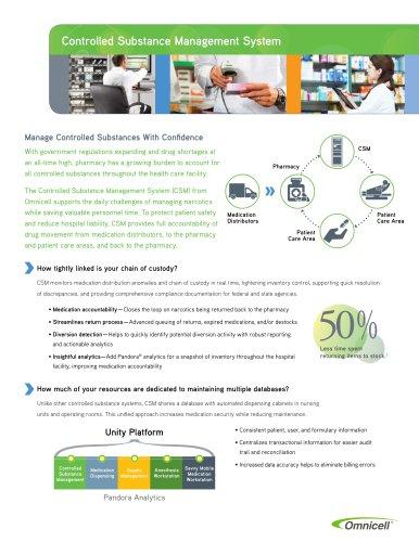 Controlled Substance Management (CSM) Brochure