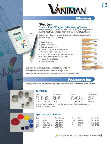 Vector Waxing System - 10150