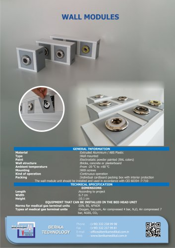 Gas Outlets With Wall Modules