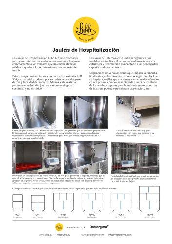 Lubb: Jaulas de Hospitalización Veterinarias de Acero Inoxidable