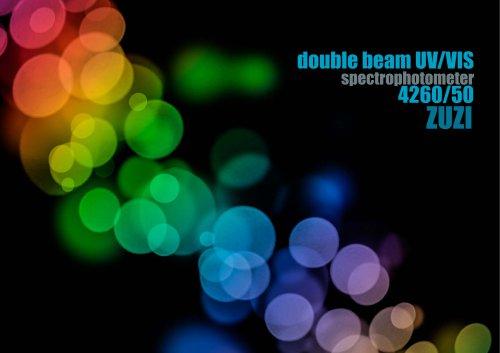 double beam UV/VIS 4260/50 ZUZI