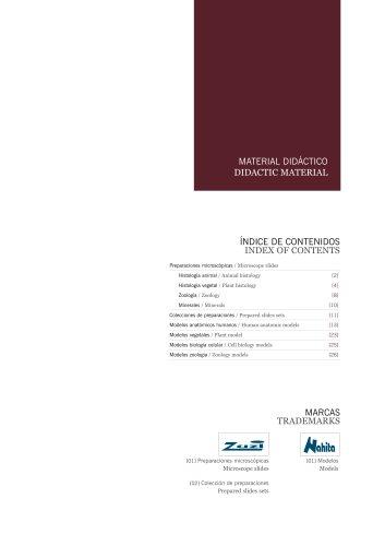 Full range of didactic material