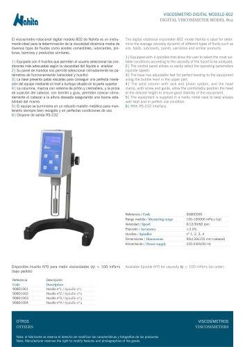 Viscosimeter digital 802
