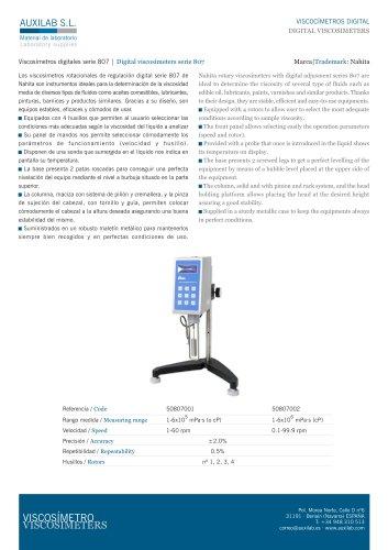 Viscosímetro Digital Modelo 807/2