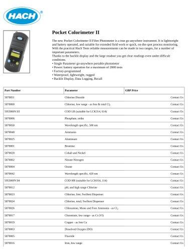 Pocket Colorimeter II
