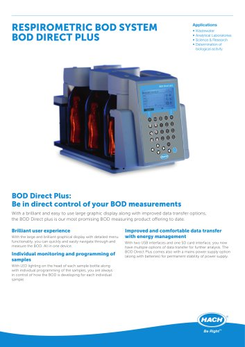 Respirometric BOD System BOD Direct Plus