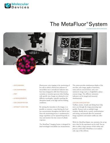 MetaFluor Software Brochure