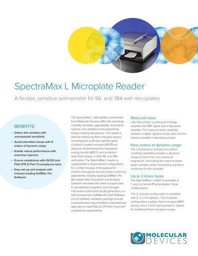 SpectraMax L Microplate Reader
