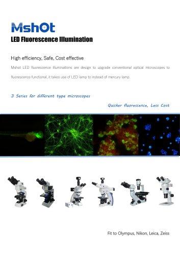 LED fluorescence microscope illuminator