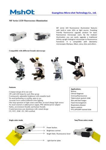 MF-LED fluorescence microscope illuminator