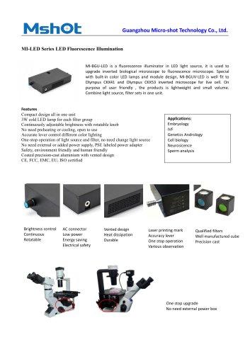 MI-LED fluorescence microscope illuminator