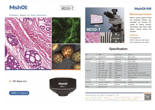 Mshot MD50-T USB3.0 microscope camera