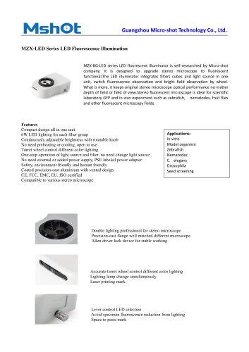 MZX-LED fluorescence microscope illuminator