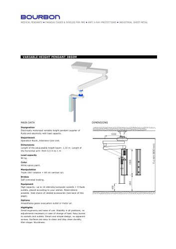 3B50M Variable Height Ceiling Pendant