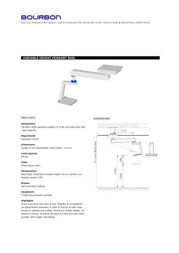 B50L Variable Height Pendant