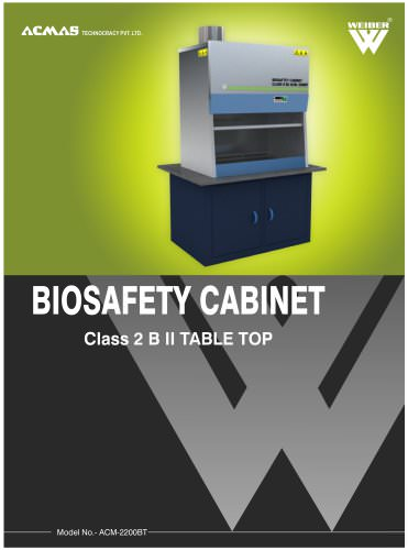 Biosafety Cabinet Class 2 B II Table Top
