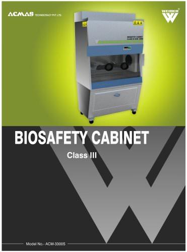 Biosafety Cabinet Class 3