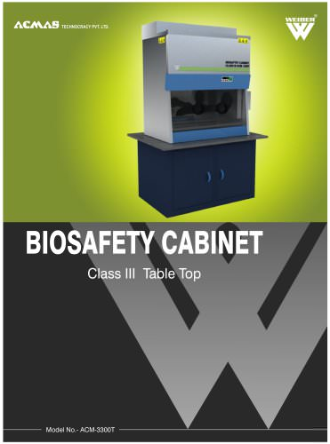 Biosafety Cabinet Class 3 Table Top (ACM-3300T)