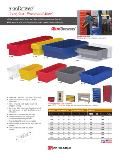 AkroDrawers® Cover, Store, Protect and More!