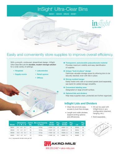 InSight®  Ultra-Clear Bins