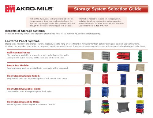 Storage System Selection Guide