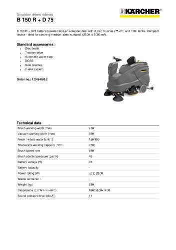 B 150 R + D 75