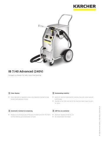 DRY ICE BLASTER IB 7/40 Advanced (240V)