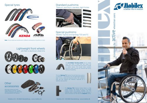 ACCESSORIES FOR ACTIVE WHEELCHAIR