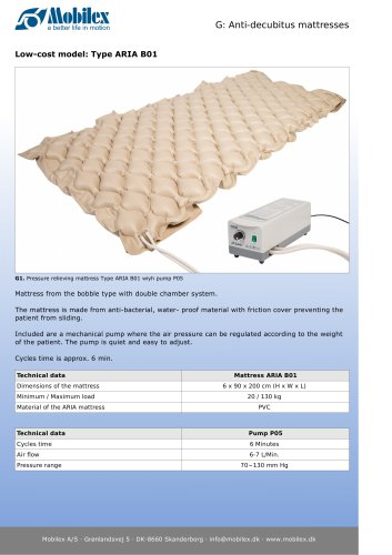 Anti-decubitus mattresses ARIA B01