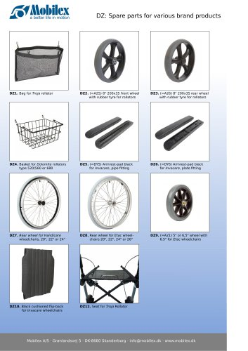 Spare parts for various brand products