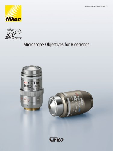 Microscope Objectives for Bioscience